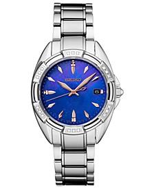 Women's Diamond-Accent Stainless Steel Bracelet Watch 33.3mm