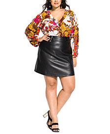 City Chic Trendy Plus Size Mad Love Skirt