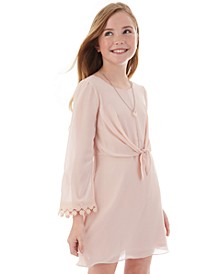 Big Girls Knot-Front Dress