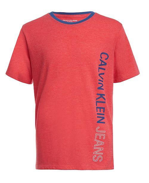 Calvin Klein Big Boys Side Logo T-Shirt