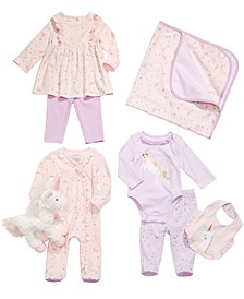 Baby Girls Unicorn Blanket, Bib, Plush Toy & Matching Outfits, Created for Macy's