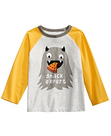 First Impressions Baby Boys Colorblocked Raglan Snack Expert T-Shirt, Created for Macy's