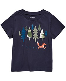 Baby Boys Fox-Print Cotton T-Shirt, Created for Macy's