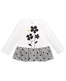 Toddler Girls Cotton Printed Peplum Top, Created For Macy's