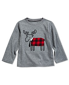 Toddler Boys Plaid Elk T-Shirt, Created For Macy's