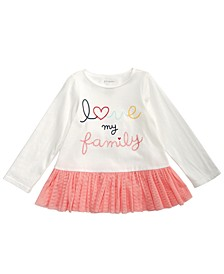 Toddler Girls Love My Family Cotton T-Shirt, Created For Macy's