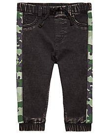 Baby Boys Camo-Stripe Jeans, Created for Macy's