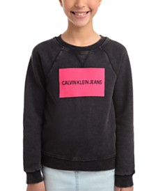 Calvin Klein Big Girls Logo Sweatshirt
