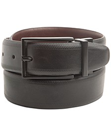 Men's Embossed Stretch Reversible Belt, Created for Macy's