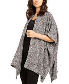 Eileen Fisher Cotton Open-Front Poncho