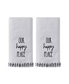 Saturday Knight Ltd Our Happy Place 2 Piece Hand Towel Set