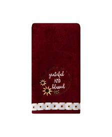 Saturday Knight Ltd Grateful and Blessed 2 Piece Hand Towel Set