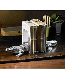 St. Croix KINDWER Cast Aluminum Alligator Bookends