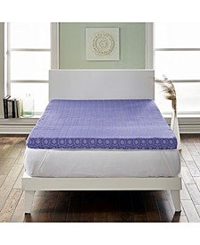 """Loftworks 4"""" Supreme Memory Foam Mattress Topper with Medium Firm Support - California King"""