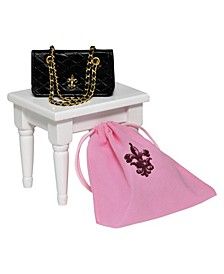 "18"" Doll Clothes Accessories, Quilted Designer Handbag Purse"