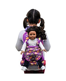Purple Child's Backpack with Doll Carrier and Doll Sleeping Bag