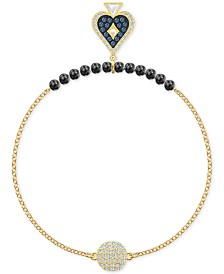 Swarovski Remix Collection Gold-Tone Beaded, Tarot & Crystal Ball Statement Bracelet