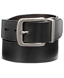 Men's Cut-Edge Reversible Leather Belt