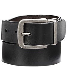 Perry Ellis Men's Cut-Edge Reversible Leather Belt