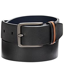 Men's Cut-Edge Leather Belt