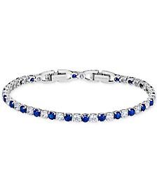 Swarovski Silver-Tone Crystal Tennis Bracelet