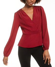 LEYDEN Wrap Blouse