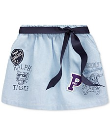 Toddler Girls Classic Oxford Varsity Skirt