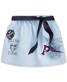 Polo Ralph Lauren Toddler Girls Classic Oxford Varsity Skirt