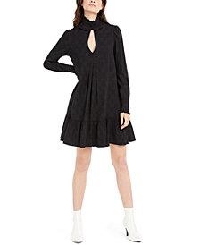 Nanette Lepore Ruffle-Trim Pleated Dress