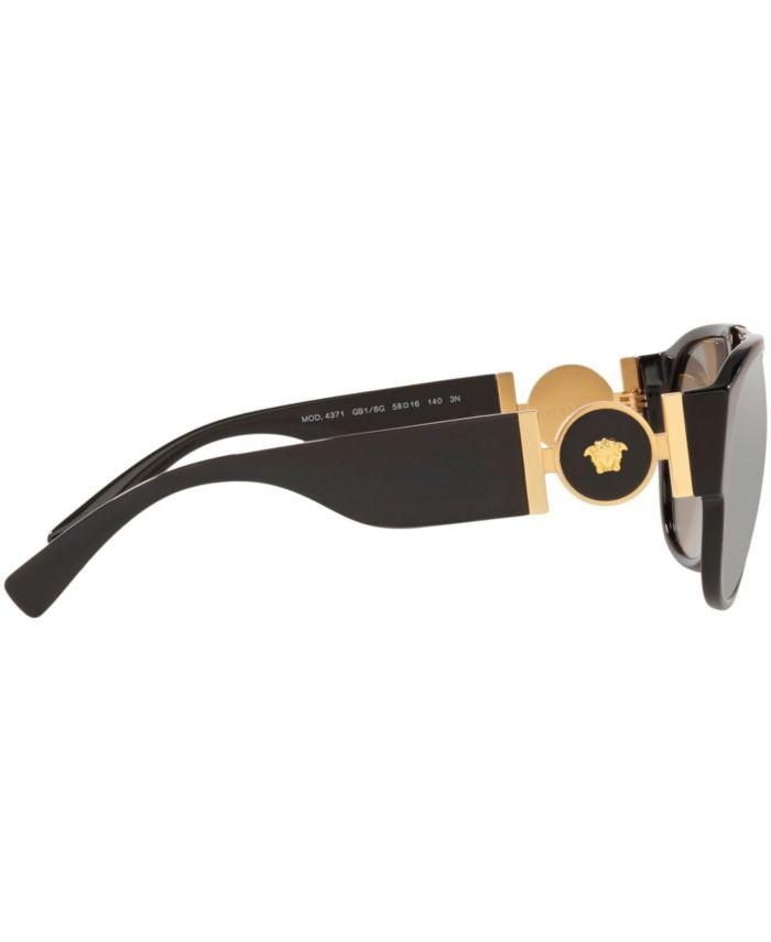 Versace Sunglasses, Created for Macy's, VE4371 58 & Reviews - Sunglasses by Sunglass Hut - Men - Macy's