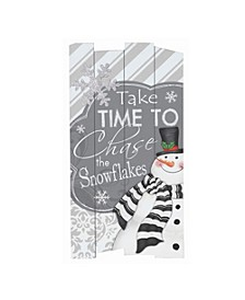 Wooden Holiday Wall Hanging with Seasonal Message