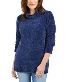Karen Scott Chenille Mock-Neck Sweater, Created for Macy's