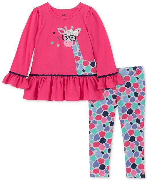 Kids Headquarters Little Girls Giraffe Tunic & Printed Leggings Set