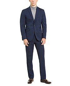Men's Slim-Fit Stretch Navy Suit