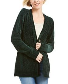 Karen Scott Chenille Open-Front Cardigan, Created for Macy's