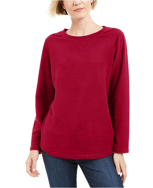 Karen Scott Sport Fleece Sweatshirt, Created for Macy's