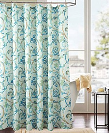Classic Tile Printed Shower Curtain
