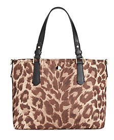 Taylor Leopard Crossbody Tote