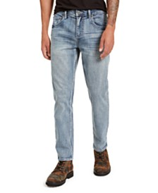 I.N.C. Men's Faded Tapered Jeans, Created for Macy's