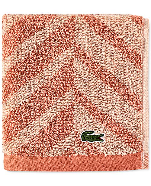 "Lacoste Herringbone Cotton 13"" x 13"" Washcloth"