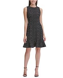 Sleeveless Dot Flounce Dress