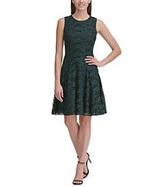 Petite Woodstock Lace Fit & Flare Dress