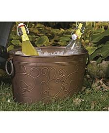 """KINDWER Antiqued Vine Oval Tub 19"""" x 12"""""""