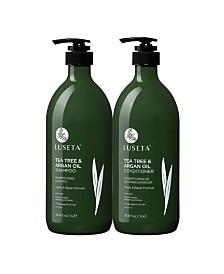 Luseta Beauty Tea Tree & Argan Oil Shampoo & Conditioner Set 67.6 Ounces