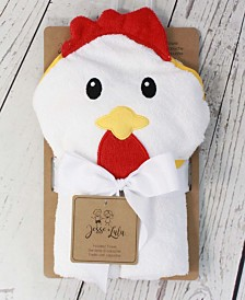 Jesse Lulu Infant Hooded Towel, Rooster