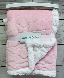 3Stories Amor Bebe Infant Plush Mink Sherpa Cloud Blanket