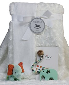 3Stories Trading Infant Blanket Gift Set With Pacifier Clip, Teether And Toy