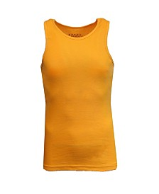 Galaxy By Harvic Men's Famous Heavyweight Ribbed Tank Top