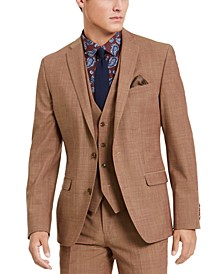 Men's Slim-Fit Active Stretch Performance Gold Suit Separate Jacket, Created for Macy's