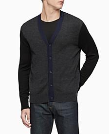 Men's Colorblocked Cardigan Sweater